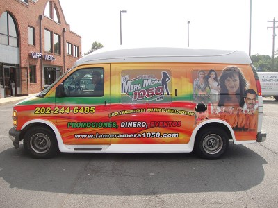 La Mera Mera 1050AM Vehicle Wrap Installation 2