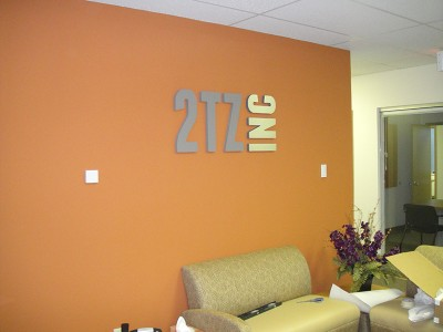 2TZ Inc - Foam Reception Sign - laminate matte finish