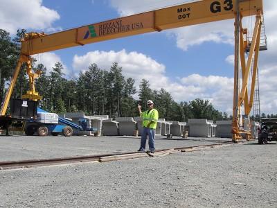Rizzani Deecher Dulles Metro Project Crane Wrap