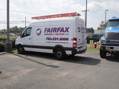 Fairfax Cooling & Heating Fleet Vehicle Lettering