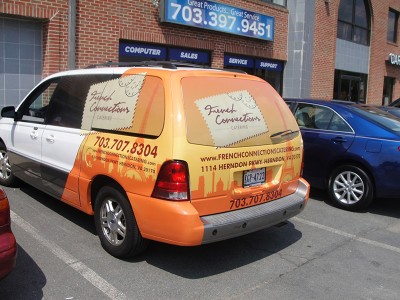 French Connections Vehicle Wrap