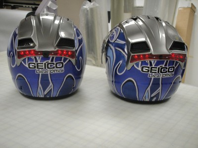 Geico Can Am Bombardier Helmet Wraps