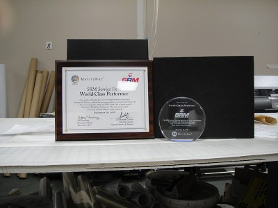 MetricNet Awards and Certificates Design