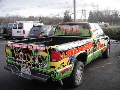 Pooper Troopers Vehicle Wrap Installation