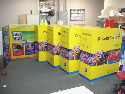 Rosetta Stone Life Size Product Box Design