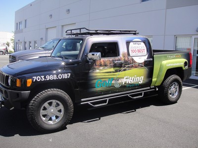 Hummer Vehicle Wraps - Golf Fitting
