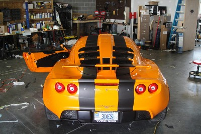 Lotus Vehicle Graphics - Racing Stripes