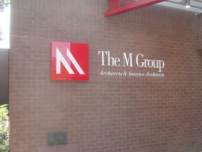 Dimensional Letters Sign - M Group