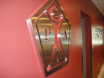 Dimensional Steel Letters Lobby Sign