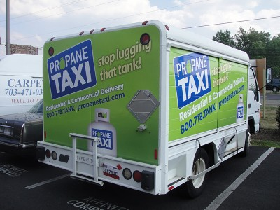 Dulles Vehicle Wraps - Fleet Truck Wraps for Propane Taxi